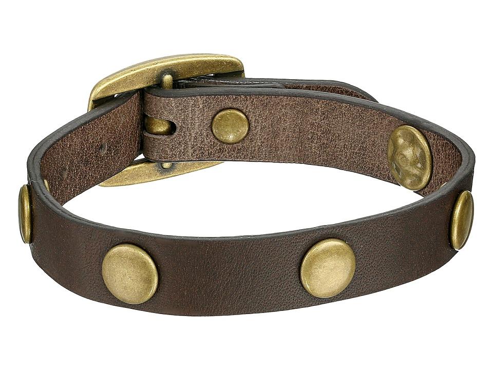 Frye - Stud Wrap Cuff (Grey Soft Vintage Leather) Bracelet