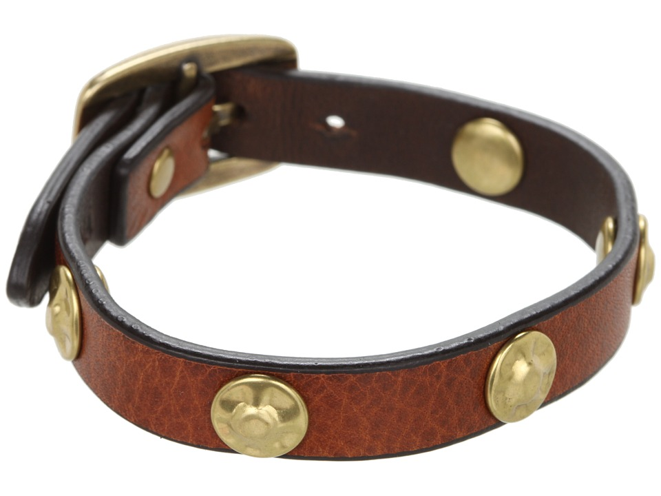 Frye - Stud Wrap Cuff (Whiskey Soft Vintage Leather) Bracelet