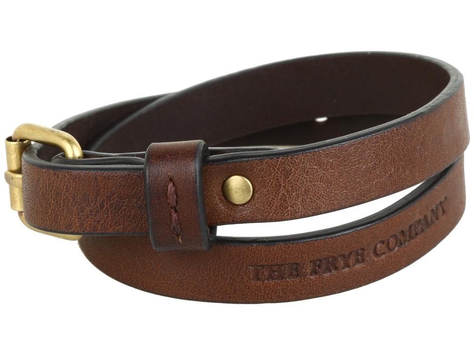 Frye - Wrap Cuff (Brown Tumbled Full Grain) Bracelet