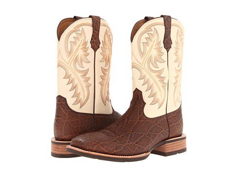 Ariat - Quickdraw (Chestnut Elephant Print/Cream) Cowboy Boots