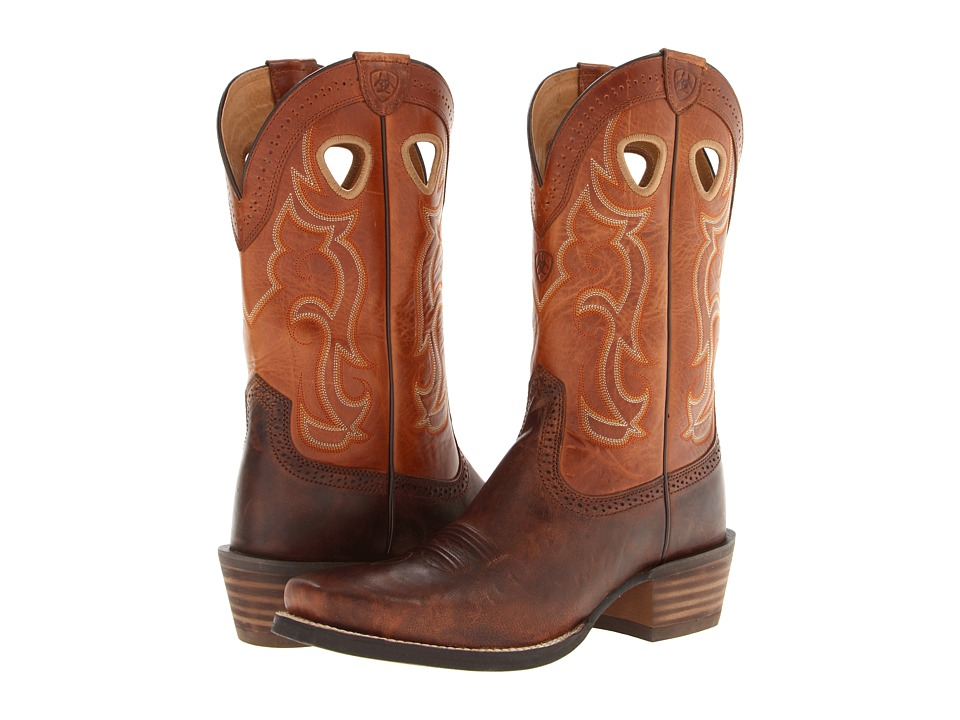 Ariat Rawhide (Weathered Chestnut/Vintage Cedar) Cowboy Boots