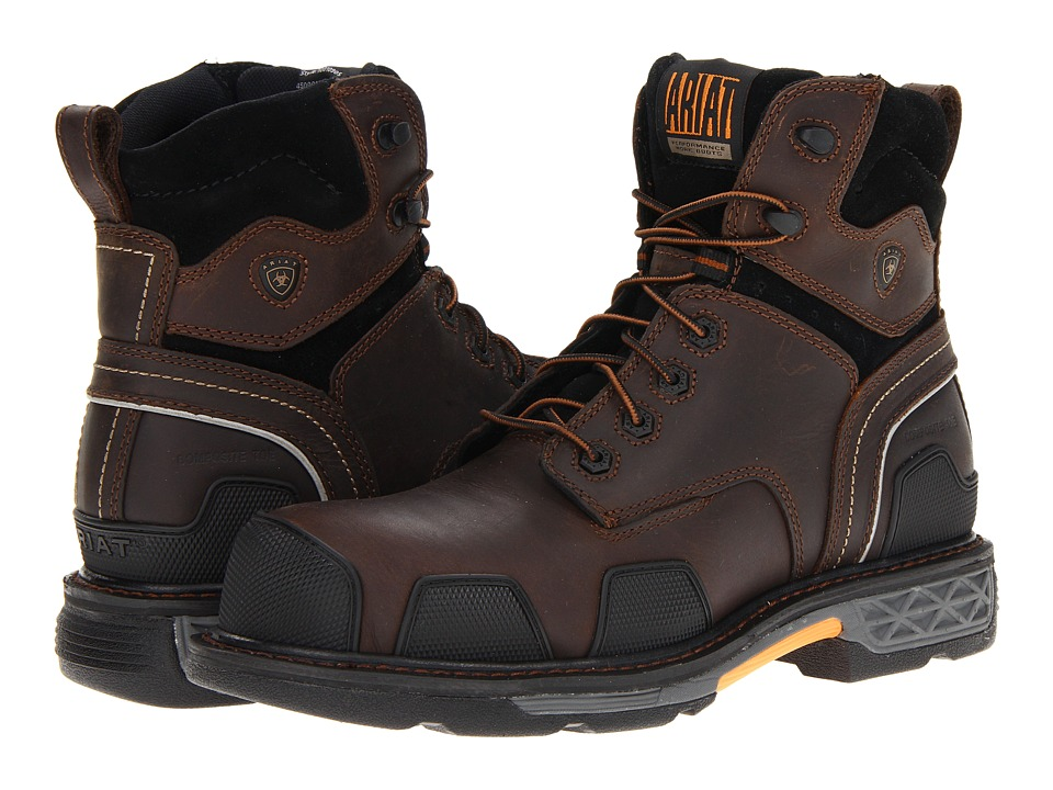 Ariat - OverDrivetm 6 Composite Toe (Dark Brown) Men's Work Boots