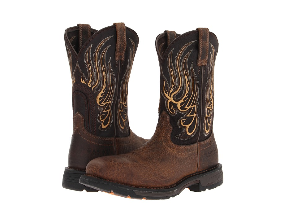 Ariat - WorkHogtm Mesteno Composite Toe (Earth/Coffee) Cowboy Boots