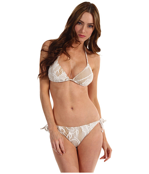 Jean Paul Gaultier - Lace String Bikini (White) Women's Swimwear Sets
