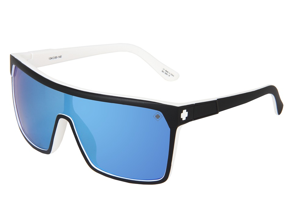 Spy Optic - Flynn (Whitewall/Grey/Light Blue Spectra) Sport Sunglasses
