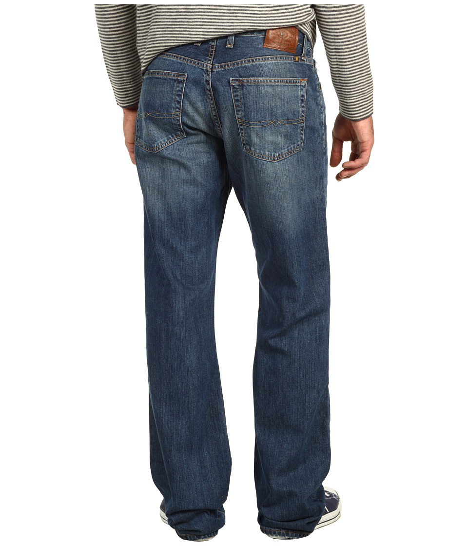 Lucky Brand 181 Relaxed Straight 34 in Medium Clarksville Mens Jeans (Blue)
