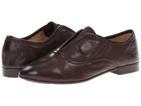 Frye - Jillian Slip On (Dark Brown Soft Vintage Leather) Women's Slip on Shoes