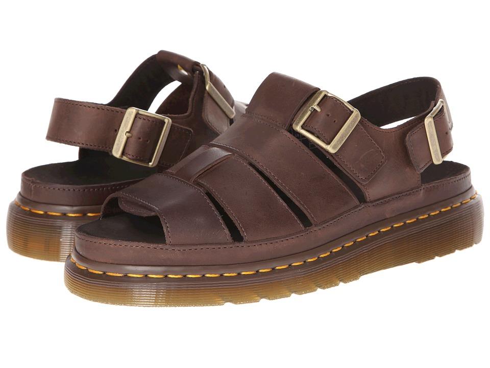 Dr. Martens - Flash Fisherman Sandal (Dark Brown Wyoming) Sandals