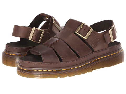 Dr. Martens - Flash Fisherman Sandal (Dark Brown Wyoming) Sandals