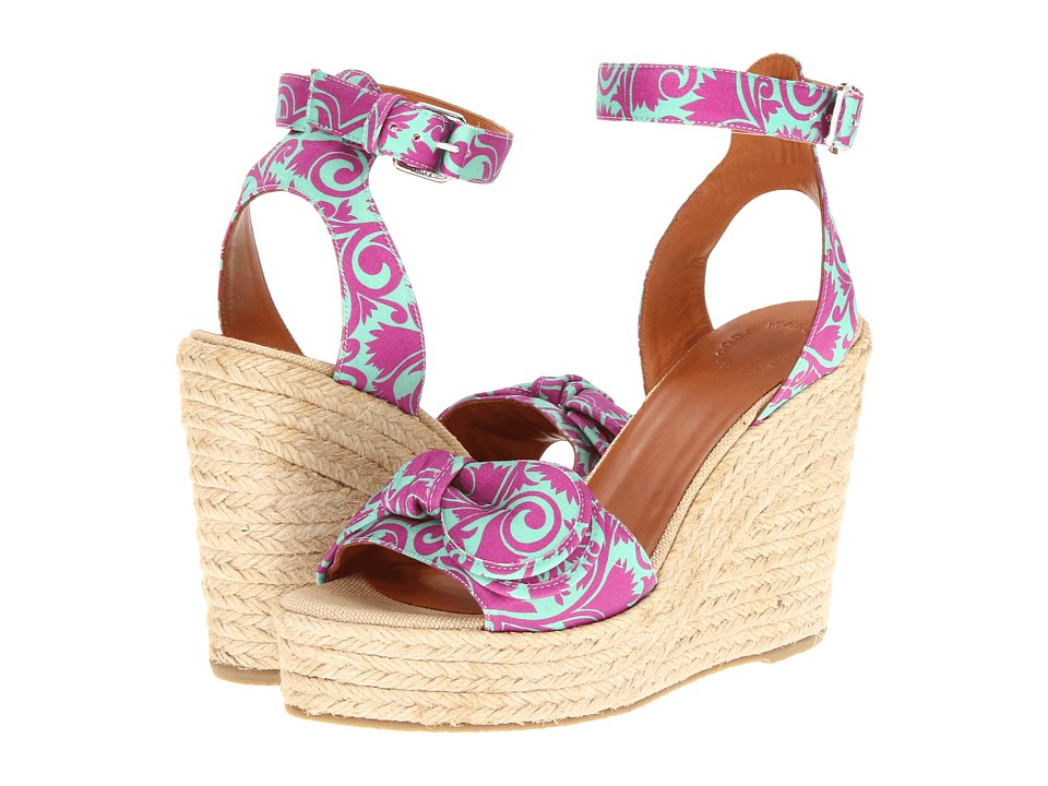 Marc by Marc Jacobs - Pretty Knot Espadrille (Fabric Tootsie Flower/Jade Stone Multi) Women's Wedge Shoes