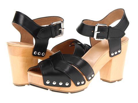 Marc by Marc Jacobs - Heavy Calf Mid-Heel Clog (Vacchetta Maine Black) High Heels
