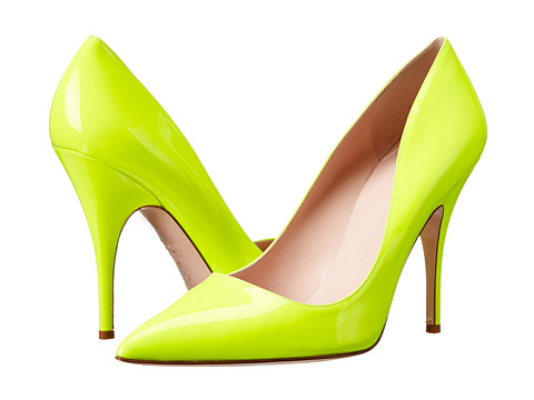 Kate Spade New York - Licorice (Yellow Flouro Patent) High Heels