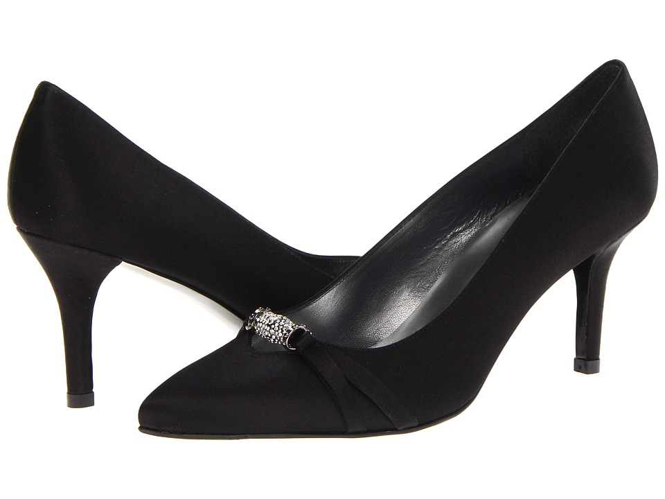 Stuart Weitzman Bridal & Evening Collection - Debutant (Black Satin) High Heels