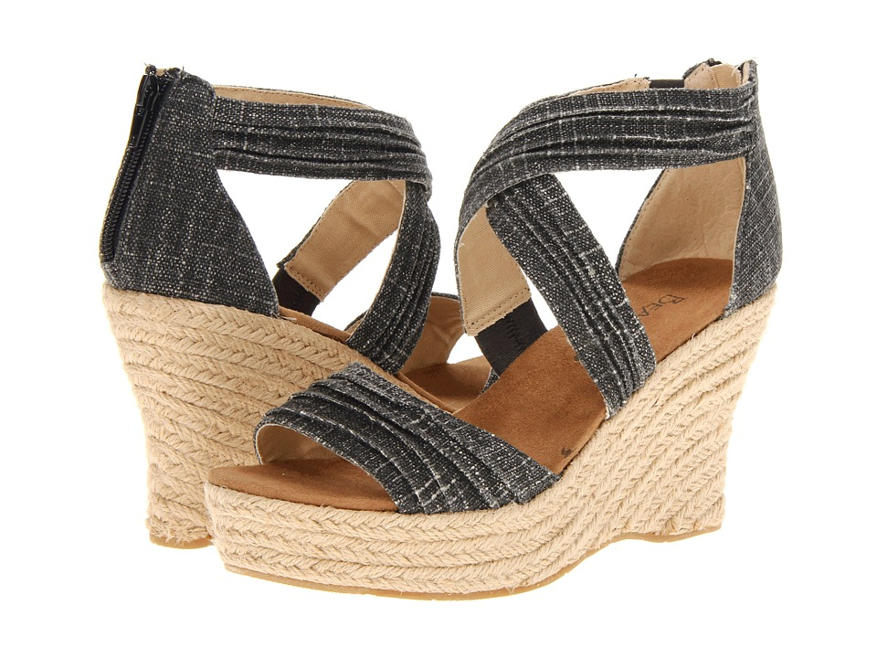 Bearpaw - Begonia (Black) Women's Wedge Shoes