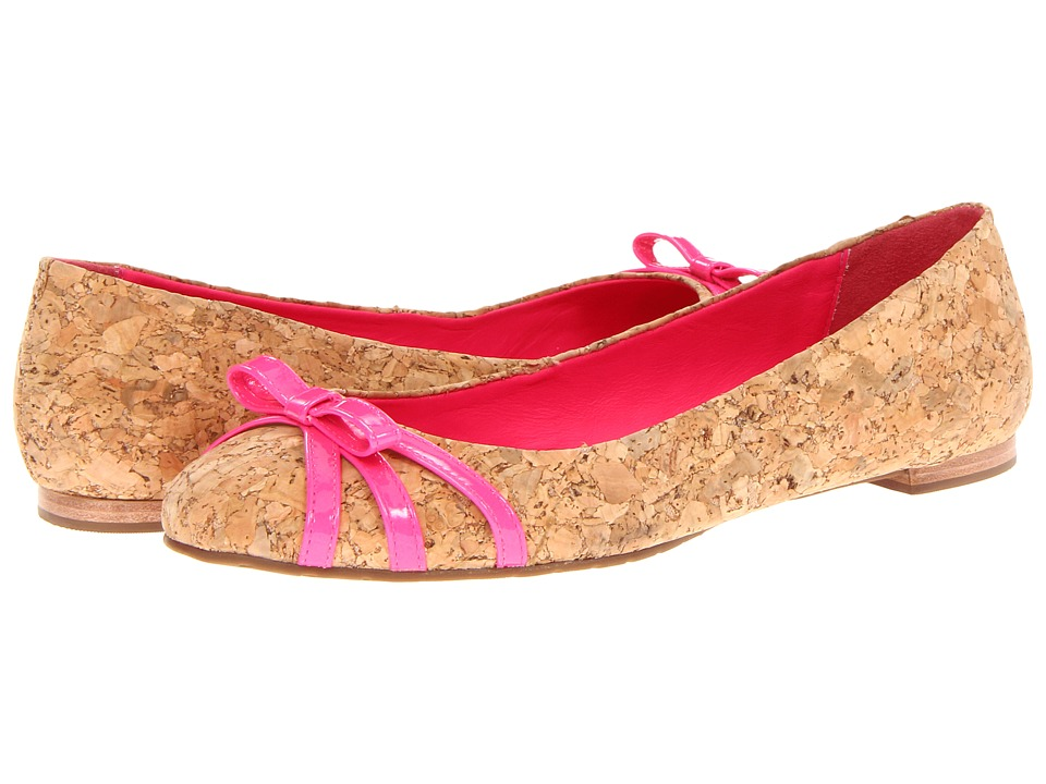 Kate Spade New York - Tiny (Natural Cork/Lipstick Pink Patent) Women's Flat Shoes