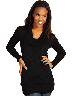 SALE! $44.99 - Save $78 on Red Dot Deep Cowl Neck Top (Black) Apparel - 63.42% OFF $123.00