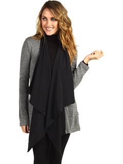 SALE! $91.99 - Save $168 on Red Dot L S Long Open Cardigan w Silk (Pewter) Apparel - 64.62% OFF $260.00