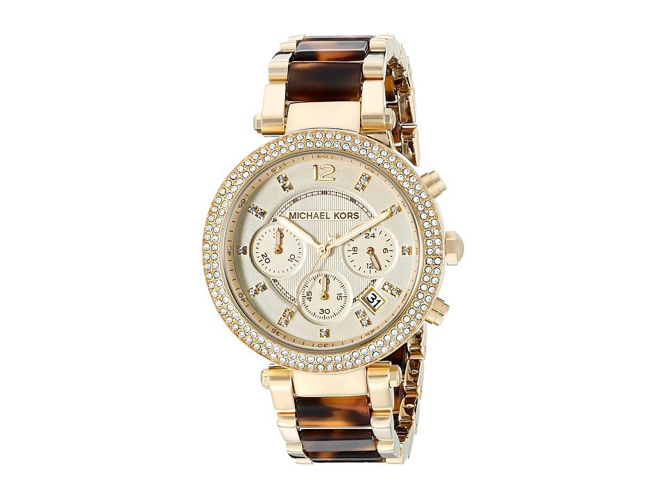 Michael Kors - MK5688 - Parker Chronograph (Gold /Tortoise) Watches
