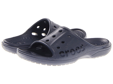 Crocs Kids - Baya Slide (Little Kid) (Navy) Kids Shoes