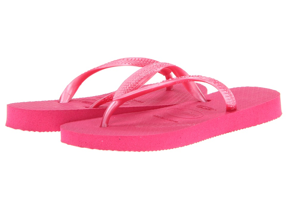 Havaianas Kids - Slim Flip Flops (Toddler/Little Kid/Big Kid) (Fuchsia) Girls Shoes