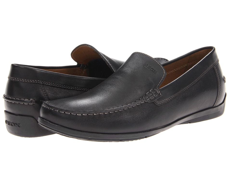 Geox - U Simon (Black) Men's Slip on Shoes