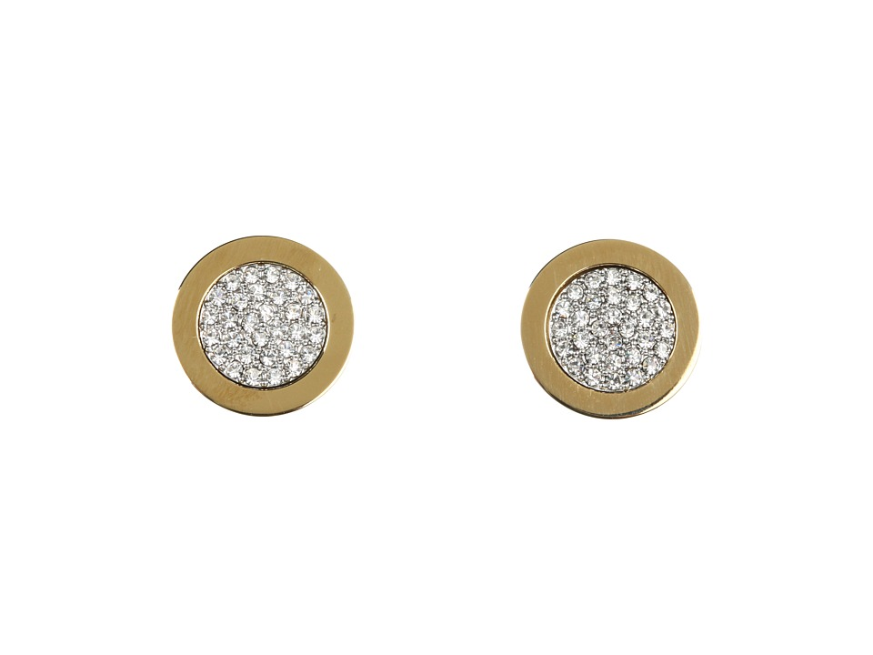 Michael Kors - Brilliance Pave Slice Stud Earrings (Gold) Earring