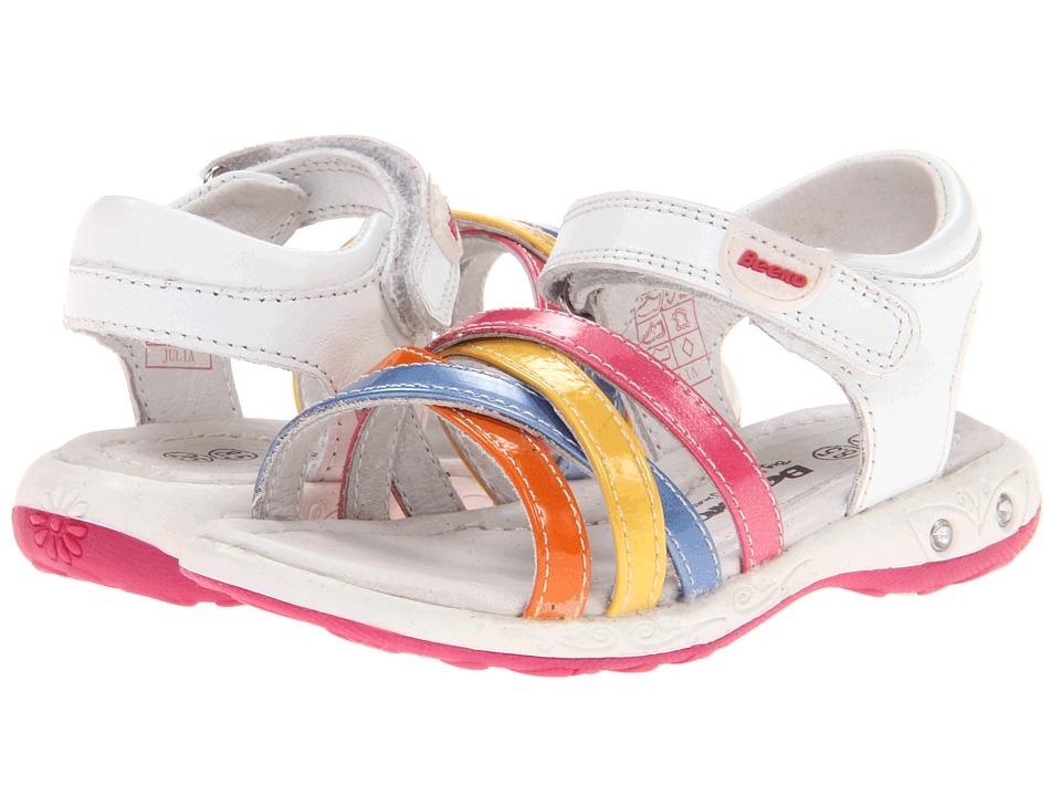 Beeko - Julie (Toddler) (White) Girls Shoes