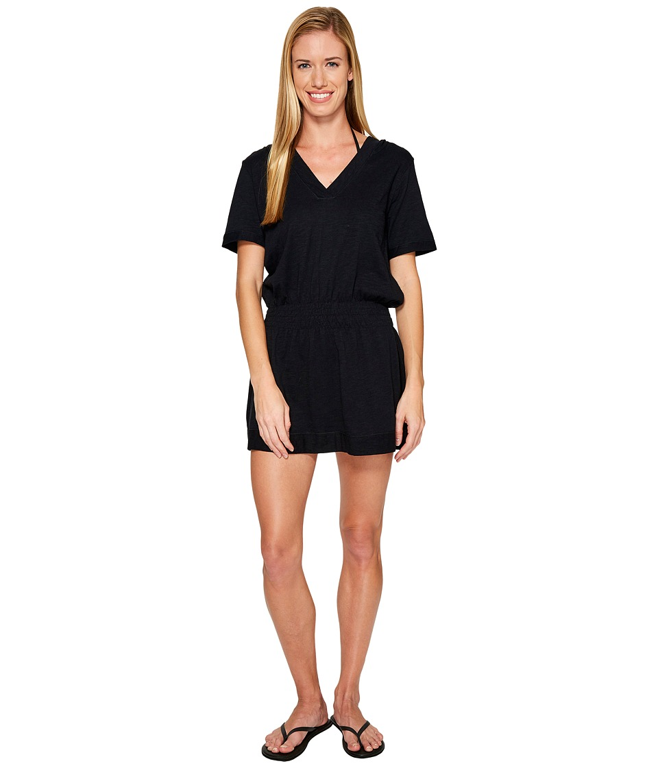 Speedo - Hooded Cover-Up (Black) Women's Swimwear
