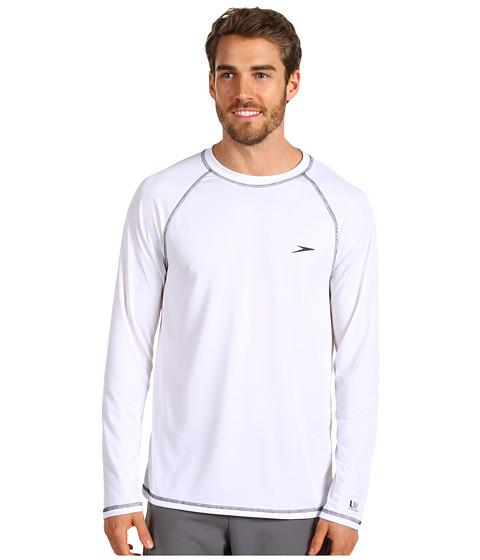 fae1208cffb25 ... with Speedo Easy L/S Swim Tee (White) Men's Swimwear. UPC 011528999530