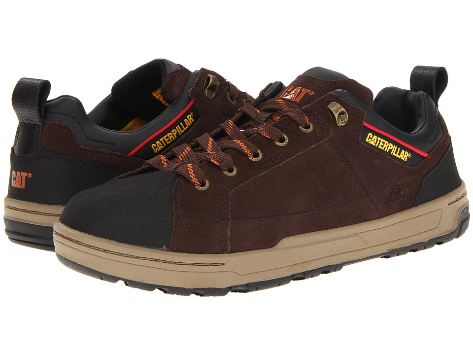 Caterpillar - Brode Steel Toe (Espresso Suede) Men's Industrial Shoes