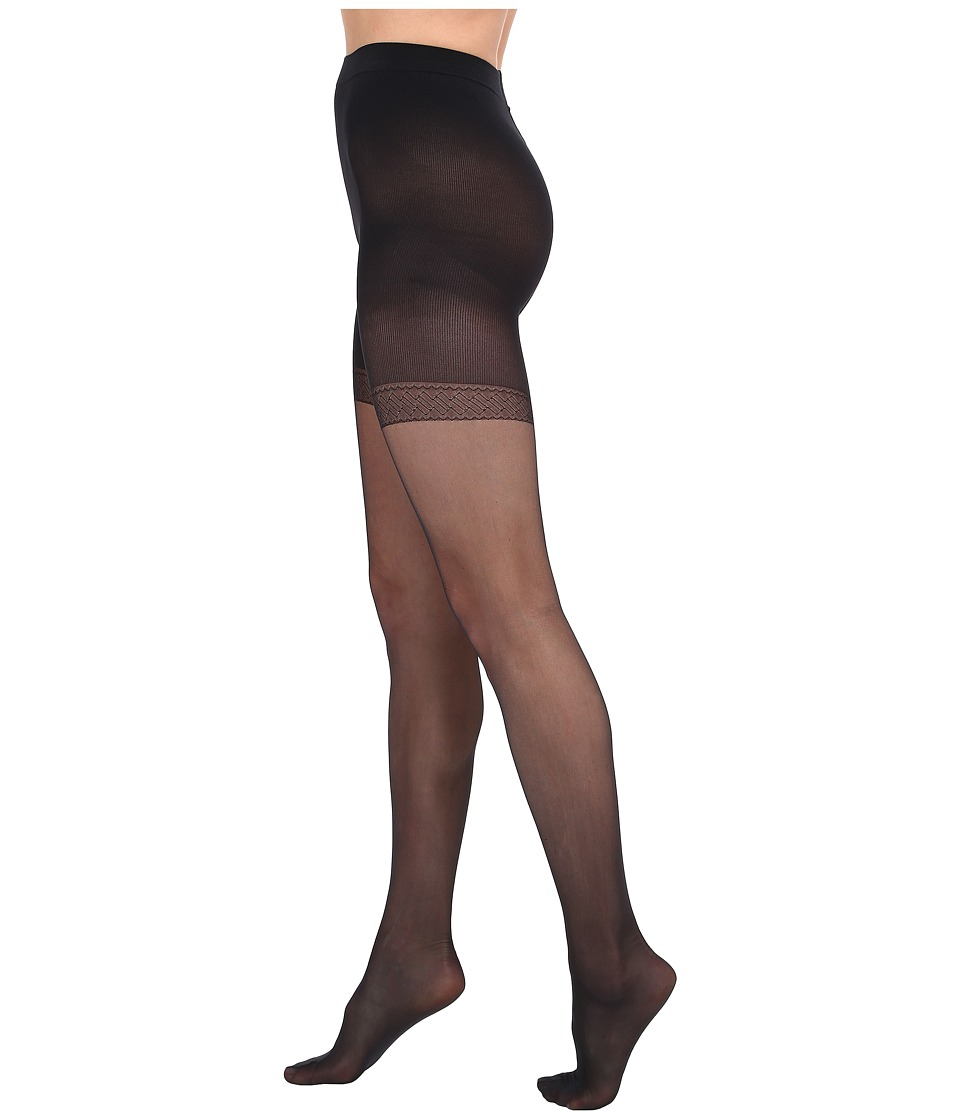 Wolford - Synergy 20 Push-Up Panty Tights (Black) Control Top Hose