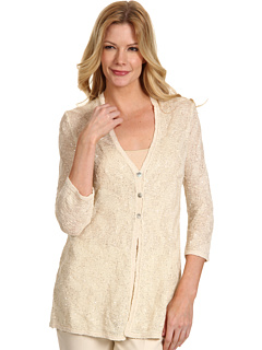 SALE! $44.99 - Save $129 on NIC ZOE Sand Sea Sparkling Skies Cardy (Sandshell) Apparel - 74.14% OFF $174.00