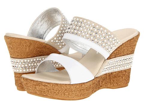 Onex - Addison (White/Silver) Women's Wedge Shoes