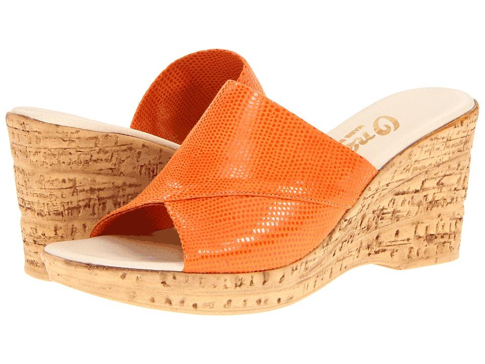 Onex - Christina 2 (Orange) Women's Wedge Shoes