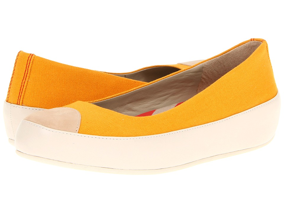 FitFlop - Due (Canvas) (Sunflower) Women's Flat Shoes
