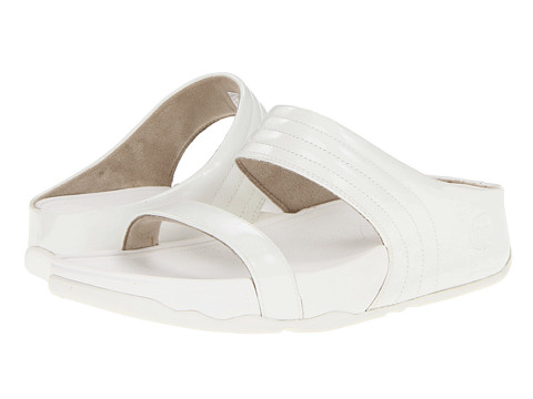 FitFlop - Walkstar Slide Patent (Urban White) Women's Slide Shoes