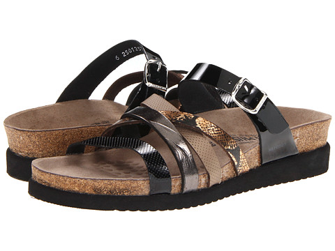 Mephisto - Huleda (Black Patent/Grey Etna/Pewter Waxy/Sand Cobra) Women's Sandals