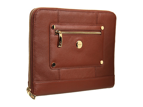 KNOMO London - Zip Sleeve for Tablet (Cognac) Computer Bags
