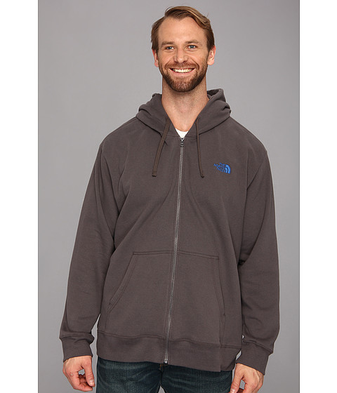 The North Face - Logo Full Zip 3XL (Graphite Grey/Nautical Blue) Men