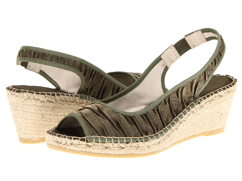 Vidorreta - Farah (Kaki Green) Women's Wedge Shoes
