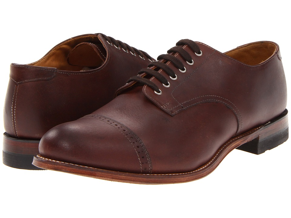 Stacy Adams - Madison (Cap Toe) (Cognac/Leather) Men's Dress Flat Shoes