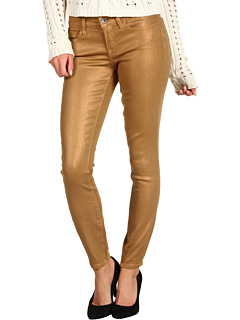 SALE! $26.99 - Save $102 on Lucky Brand Charlie Skinny Jean in Coated Sparkle Gold (Gold) Apparel - 79.08% OFF $129.00