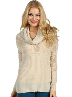 SALE! $36.99 - Save $53 on Lucky Brand Paula Cowl Neck Pointelle Sweater (Nigori) Apparel - 58.67% OFF $89.50