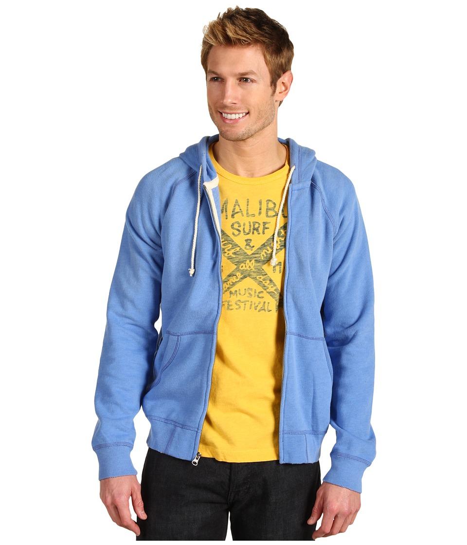 Lucky Brand Full Zip Hoodie Mens Sweatshirt (Blue)