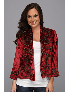 SALE! $149.99 - Save $249 on Lucky Brand Emma Beaded Jacket (Eastern Red Multi) Apparel - 62.41% OFF $399.00