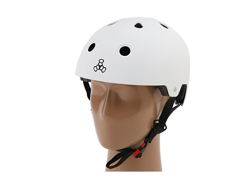 Triple Eight - Brainsaver Dual Certified Helmet with EPS Liner (White Rubber) Athletic Sports Equipment