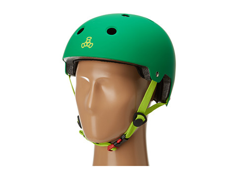 Triple Eight - Brainsaver Dual Certified Helmet with EPS Liner (Kelly Green) Athletic Sports Equipment