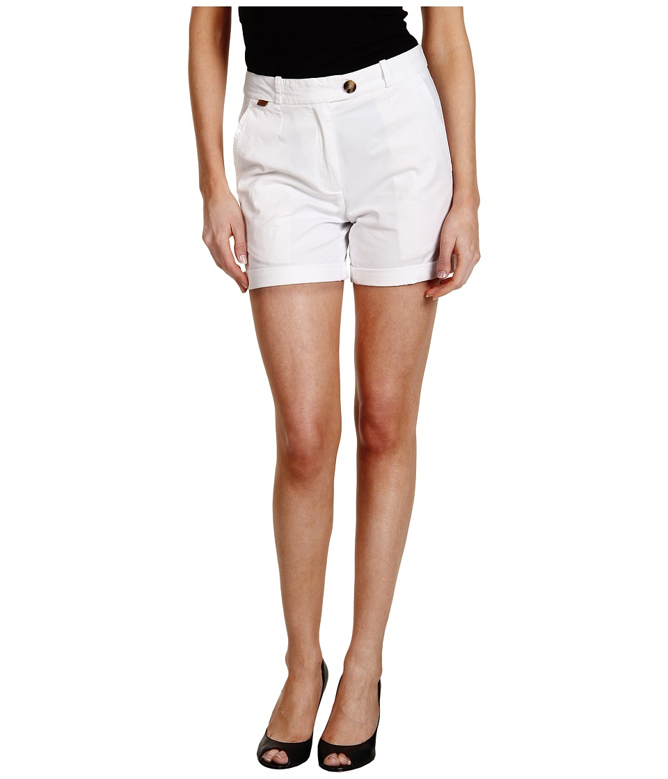 Lacoste - Stretch Gab Bermuda Short (White) Women's Shorts