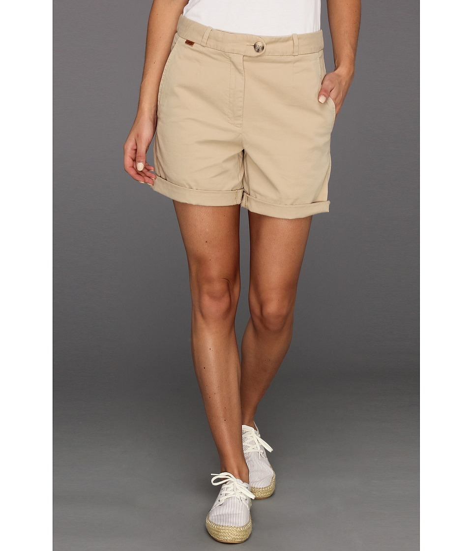 Lacoste - Stretch Gab Bermuda Short (Light Lioness Beige) Women