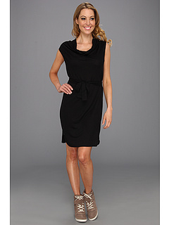 SALE! $61.99 - Save $93 on Lacoste Cap Sleeve Linen Slubby Belted T Shirt Dress (Black) Apparel - 60.01% OFF $155.00